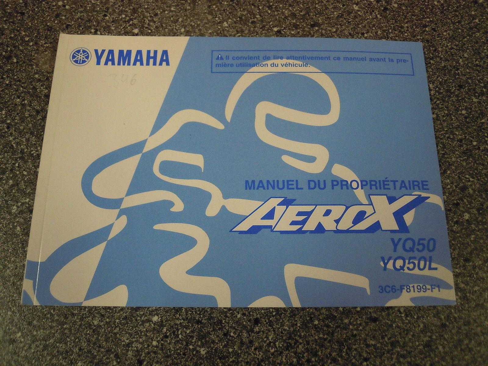 Bedienungsanleitung Yamaha Aerox YQ50 YQ50L Aug08 3C6-F8199-F1 ...
